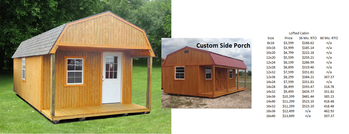 Shed Pricing – Lonestar Shed Builders, LLC